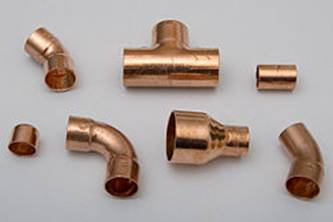 Copper fittings for soldered joints