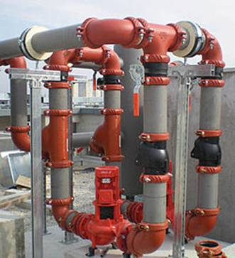 Multiple mechanical sleeve clamps piping