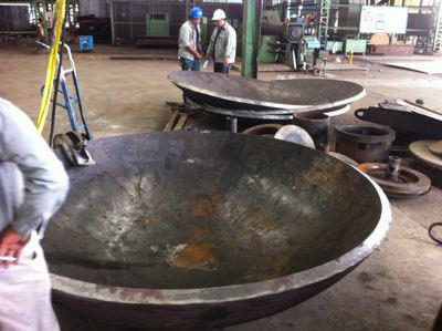 pressure vessel dish end