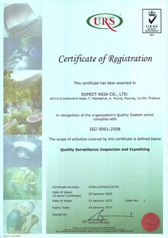 ISO Certificate inspection Thailand